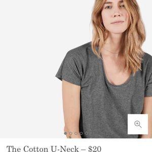 Everlane The Cotton U Neck Tee
